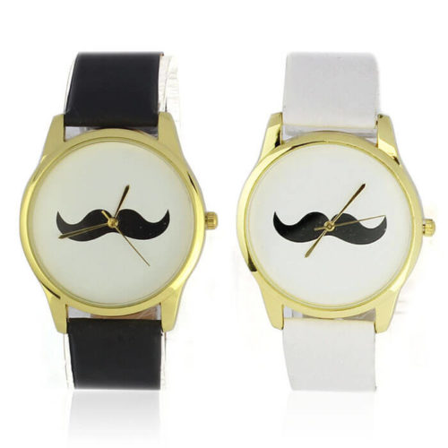 На картинке часы с усами (2 варианта), вид спереди.