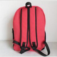 На картинке рюкзак-портфель с усами (усиками) 8 цветов, вид сзади, цвет розовый.