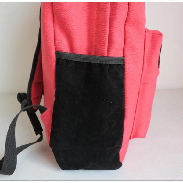 На картинке рюкзак-портфель с усами (усиками) 8 цветов, вид сбоку, цвет розовый.