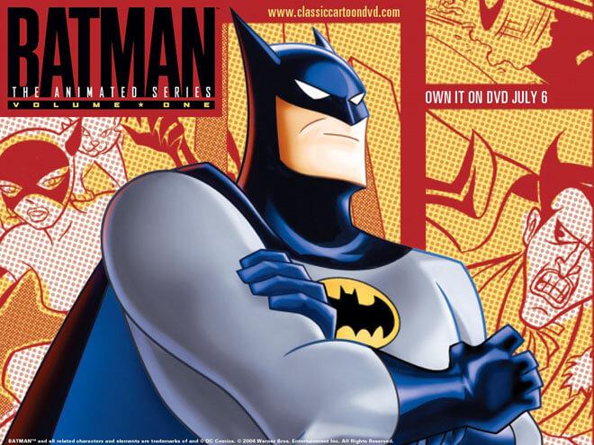 На картинке флешка «Бэтмен», кадр из мультсериала.