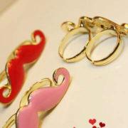 Кольцо с усами (усиками) фото