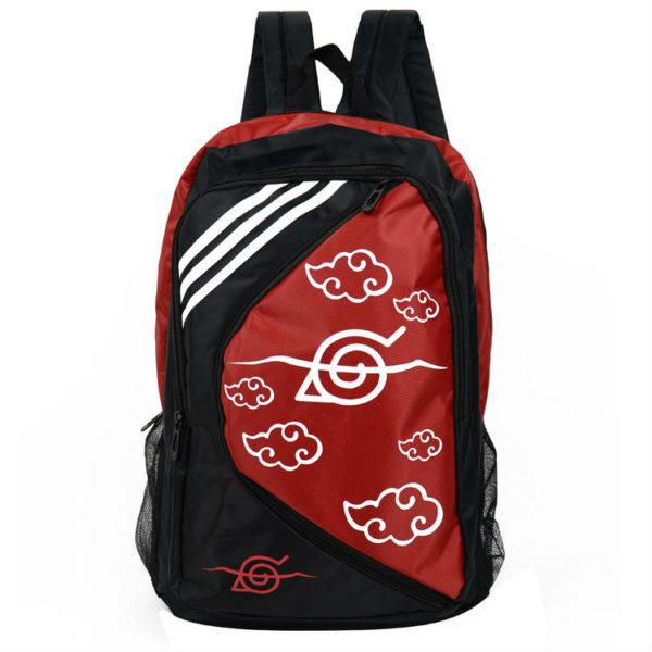 На картинке рюкзак Наруто со знаком Акацуки, вид спереди.