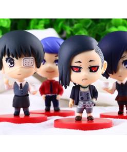 На картинке набор фигурок «Токийский гуль» (Tokyo Ghoul), вид спереди.