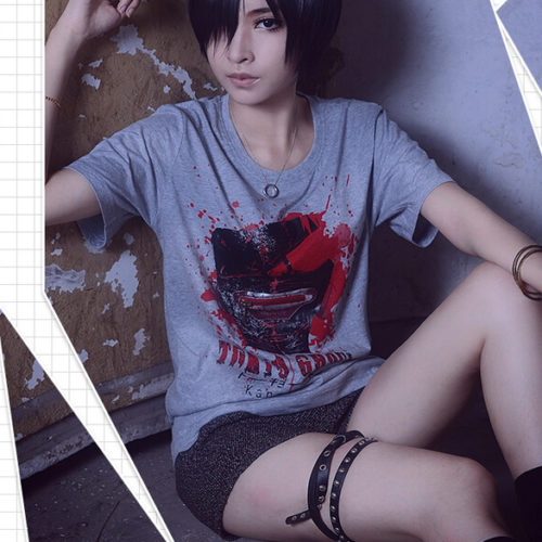 На картинке футболка «Токийский гуль» (Tokyo Ghoul), общий вид.