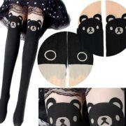 Колготки с имитацией чулок «Панда» фото