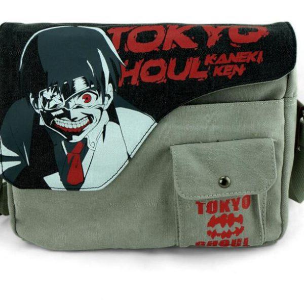 На картинке сумка «Токийский гуль» (Tokyo Ghoul), вид спереди.