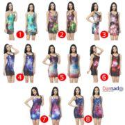 Платье с космическим принтом (8 вариантов) фото
