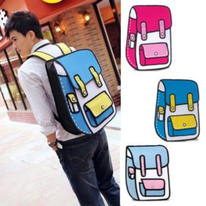 На картинке рюкзак 2d (2 д), общий вид, 3 варианта.