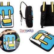 Рюкзак 2d (2 д) 3 варианта, вид с разных сторон