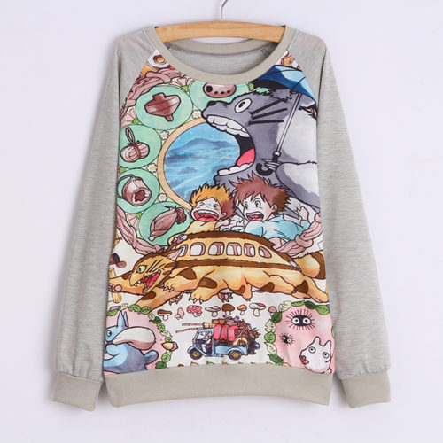 На картинке свитшот «Тоторо» (Totoro), вид спереди.
