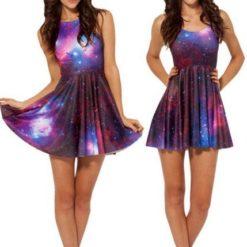 На картинке платье «Космос», вид спереди.