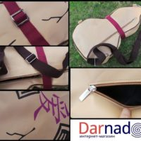 На картинке сумка «Сосуд с песком Гаары» из Наруто (Naruto) 3 варианта, вариант 3.