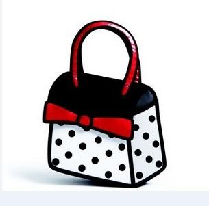 На картинке сумка 2d с бантом, вид спереди.