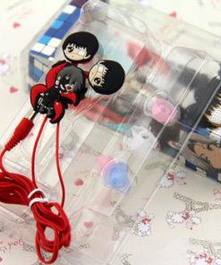 На картинке наушники-затычки «Токийский гуль» (Tokyo Ghoul). общий вид.