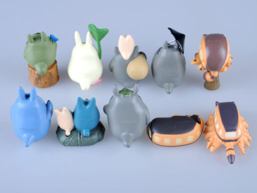 На картинке набор «Тоторо» (Totoro), вид сзади.