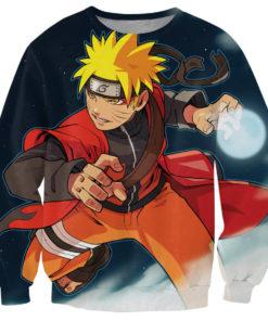 На картинке кофта Наруто (Naruto), вид спереди.