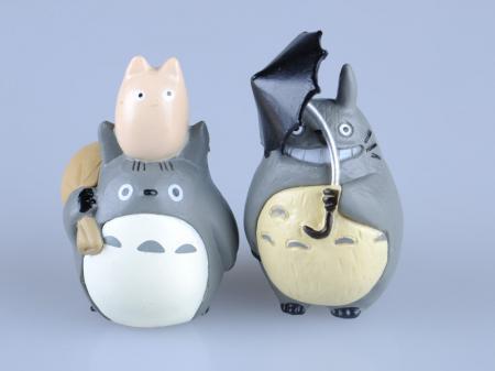 На картинке набор «Тоторо» (Totoro), отдельные фигурки, вид спереди.