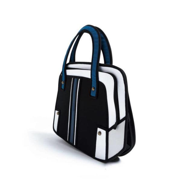 На картинке сумка 2d (мужская), вид сбоку, цвет черный.