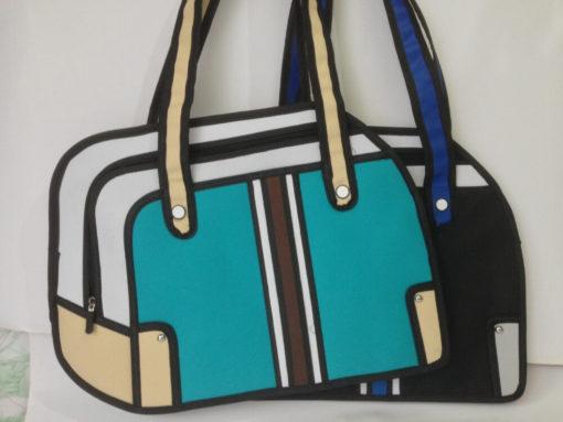 На картинке сумка 2d (мужская), вид спереди, 2 варианта.
