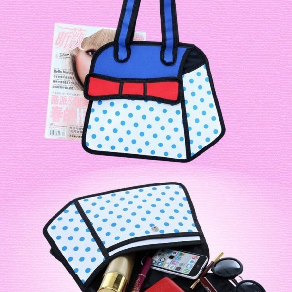 На картинке сумка 2d с бантом, общий вид.