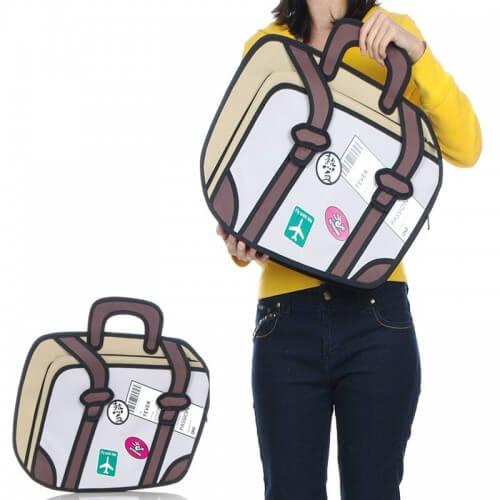 На картинке сумка 2 d «Путешествие», вид спереди.