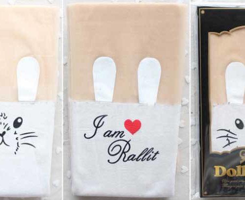 На картинке модные колготки с имитацией чулков «Кролик», вид в упаковке, цвет белый.