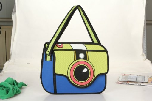 На картинке сумка 2 д «Фотоаппарат», вид спереди.