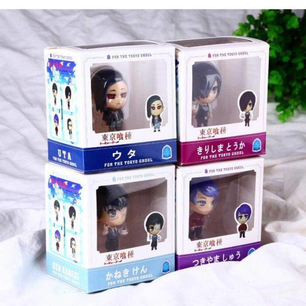 На картинке набор фигурок «Токийский гуль» (Tokyo Ghoul), общий вид в упаковке.