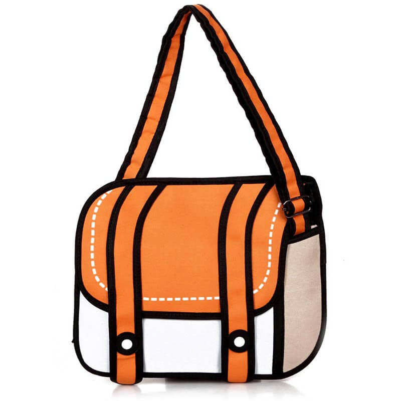На картинке сумки 2д, вид спереди, цвет оранжевый.