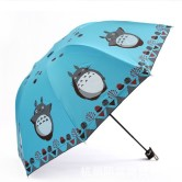 На картинке зонт (зонтик) «Тоторо», цвет синий.
