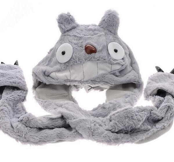 На картинке шапка «Тоторо» (Totoro), вид спереди.