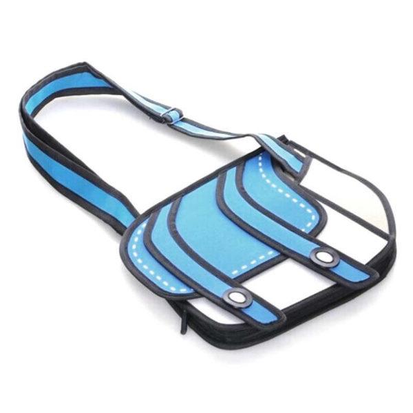 На картинке сумки 2д, общий вид, цвет голубой.