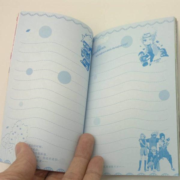 На картинке книга Какаши (Наруто), в раскрытом виде.