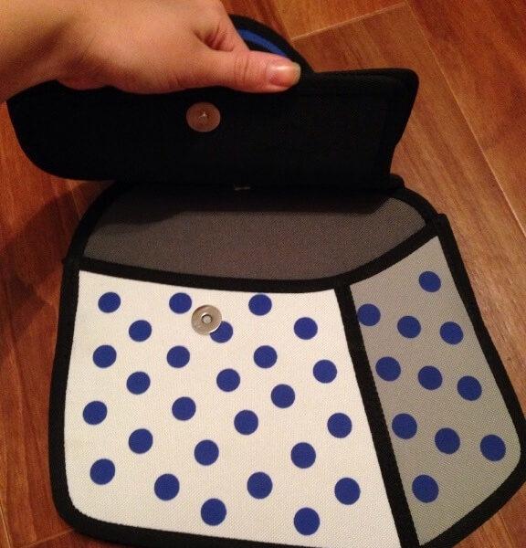 На картинке сумка 2d с бантом, в раскрытом виде.
