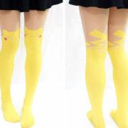 Модные колготки с имитацией чулков «Пикачу» (Pikachu) — Покемон фото