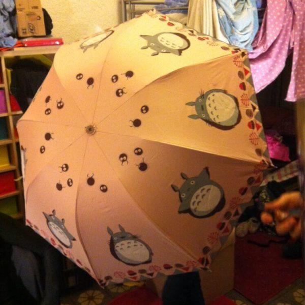 На картинке зонт (зонтик) «Тоторо» (Totoro) 6 вариантов, цвет розовый.