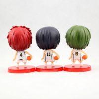 На картинке фигурки Баскетбол Куроко (набор 9 шт), фигурки Акаши, Такао и Мидоримы, вид сзади.