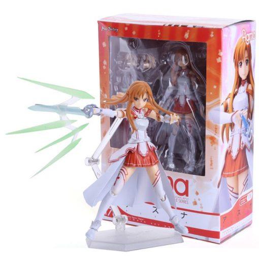 На картинке фигурка «Асуна» подвижная (Sword Art Online), общий вид и упаковка.