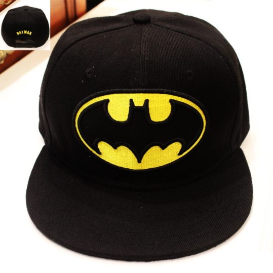 Бэтмен-Snapback-взрослых-бейсболка-круто-мальчик-хип-хоп-шляпы-для-женщин-3-цвета-KT2120