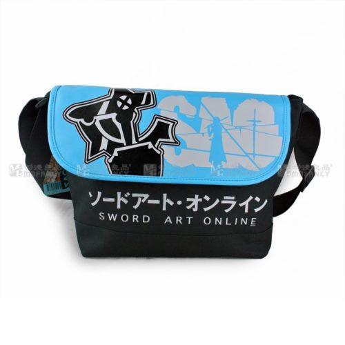 На картинке сумка «SAO» (Sword Art Online), вид спереди.