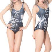 На картинке купальник «Дарт Вейдер» (Звездные войны), вид спереди и сбоку.
