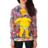 На картинке свитшот с Гомером Симпсоном (Simpsons) Пончики, вид спереди.
