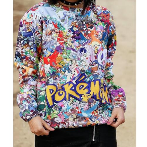 На картинке свитшот «Покемоны» (Pokemon), вид спереди.