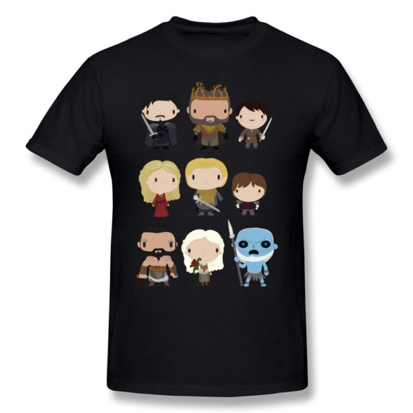 На картинке футболка «Персонажи Игры престолов», вид спереди.