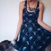 На картинке платье Игра престолов, вид спереди.