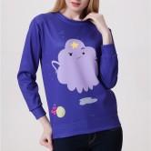 На картинке свитшот-кофта с Принцессой Пупыркой «Время приключений» (Adventure time), вид спереди.