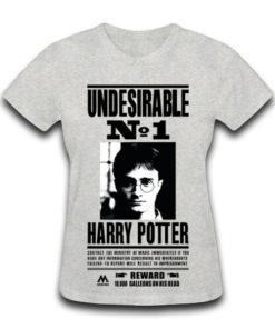 На картинке вариант серый для Футболки женские с Гарри Поттером, вид спереди.