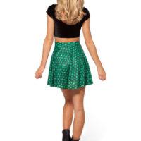 На картинке юбка «Игра престолов» в виде драконьей чешуи, вид сзади, цвет зеленый.
