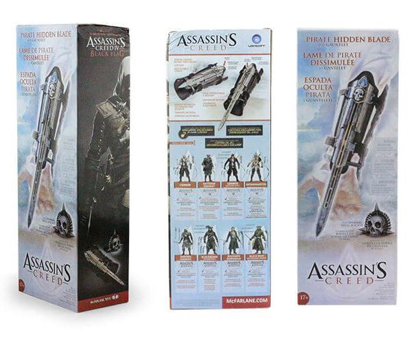 На картинке клинок Эдварда Кенуэй (Ассасин крид 4), упаковка.