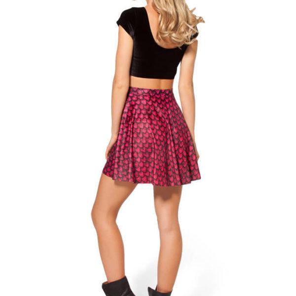 На картинке юбка «Игра престолов» в виде драконьей чешуи, вид сзади, цвет красный.